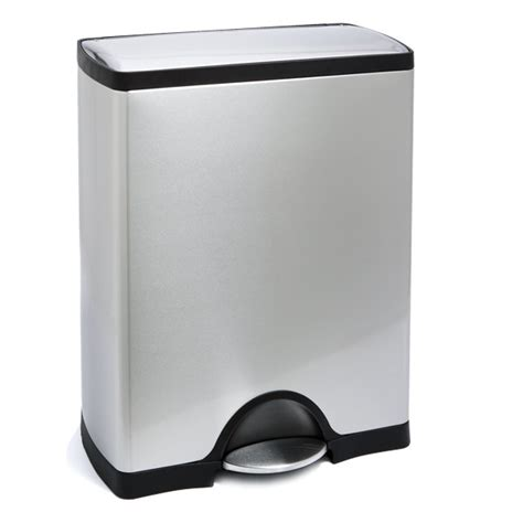 Simplehuman Kitchen Trash Can by Simplehuman 13 Gal Rectangle Step Can The Container Store