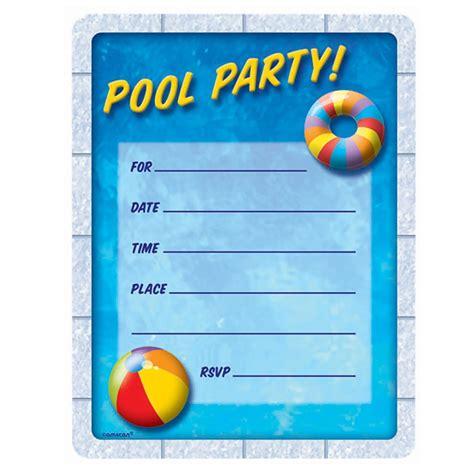 pool invitation birthday pool invitations birthday pool