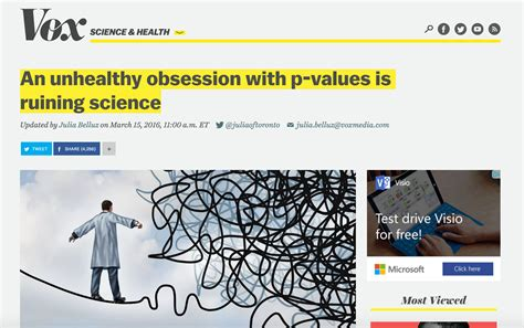 Ways To Get An Unhealthy Obsession by Vox An Unhealthy Obsession With P Values Is Ruining Science