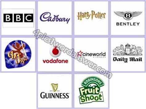 printable logo quiz uk logo quiz uk brands answers 4 pics 1 word game answers
