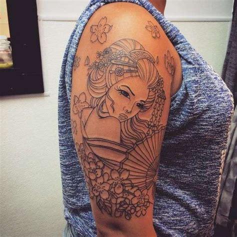 tatuaggi geisha con fiori tatuaggi giapponesi per donne foto 10 31 stylosophy