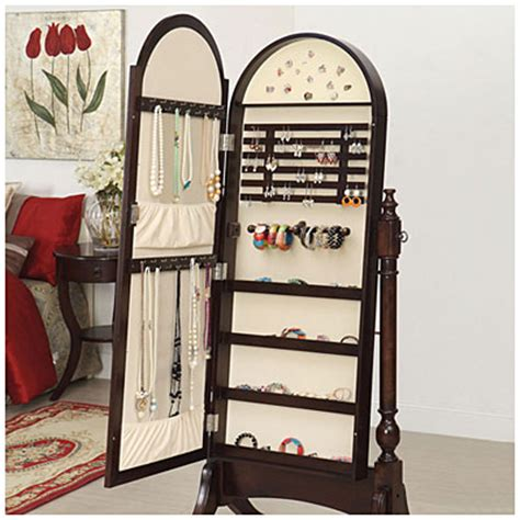 Large Mirror Jewelry Armoire by View Cherry Cheval Mirror Jewelry Armoire Deals At Big Lots