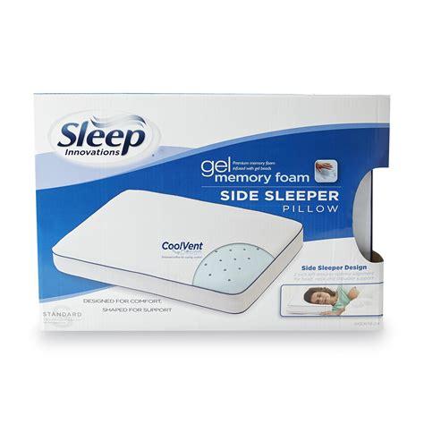 Novaform Gel Pillow by Sleep Innovations Gel Memory Foam Sidesleeper Pillow