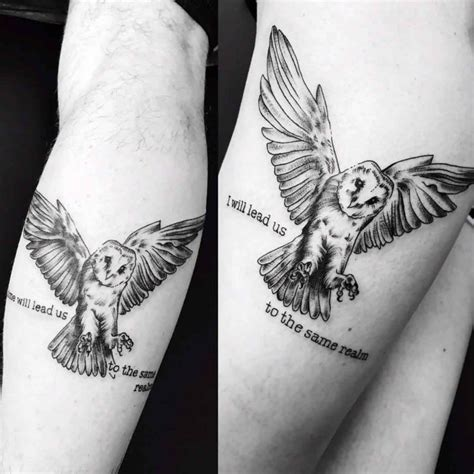 owl tattoos for couples matching owl tattoos best ideas gallery