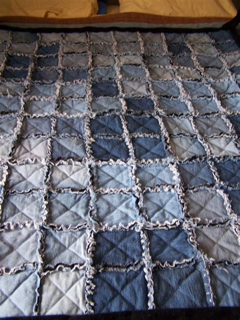 Camo Patchwork Quilt - denim rag quilt for levi want to back it with realtree
