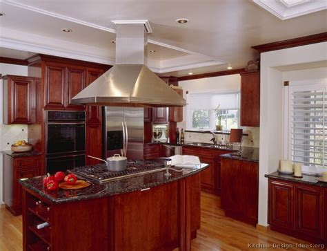 Kitchen Ideas With Cherry Wood Cabinets Pictures Of Kitchens Traditional Wood Kitchens Cherry Color