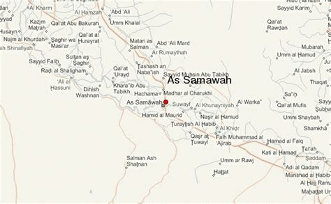 samawah iraq map as samawah location guide