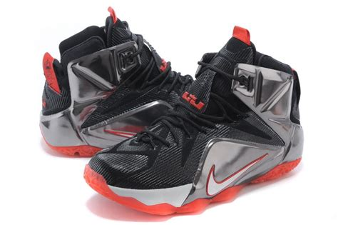lj basketball shoes cheap nike lebron 12 black silver basketball shoes for