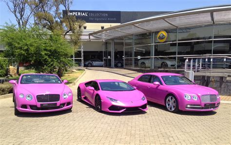 pink bentley convertible south lamborghini and bentley go pink gtspirit