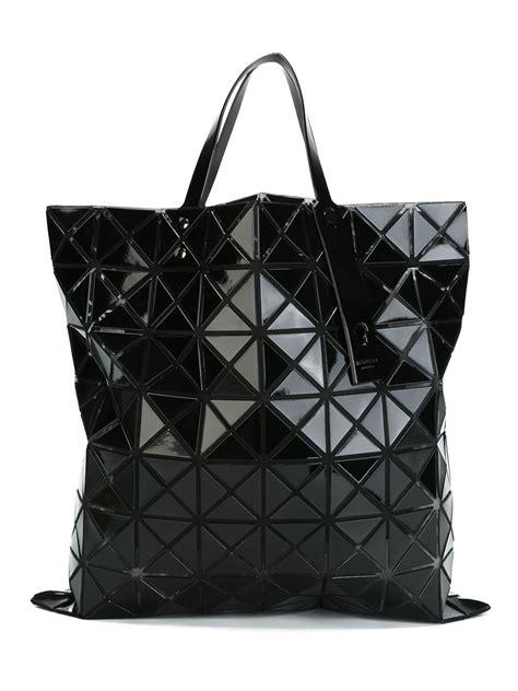 geometric pattern tote bag bao bao issey miyake geometric pattern tote bag in black