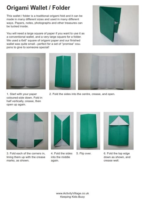 How To Fold A Paper Wallet - origami wallet