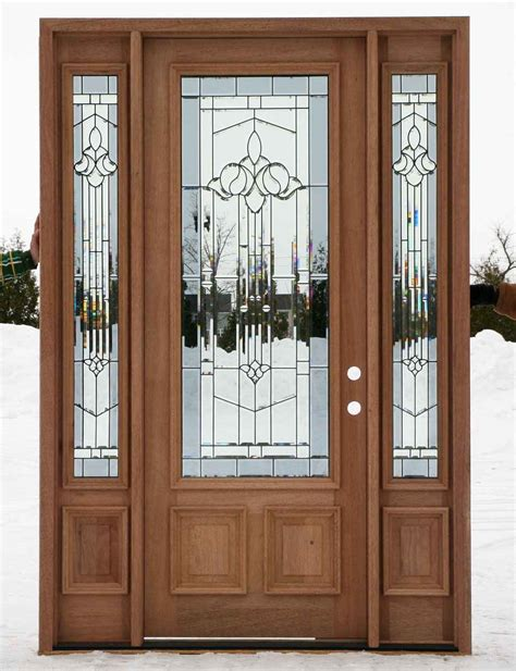 Glazed Exterior Doors Cheap Entry Doors With Sidelights Feel The Home