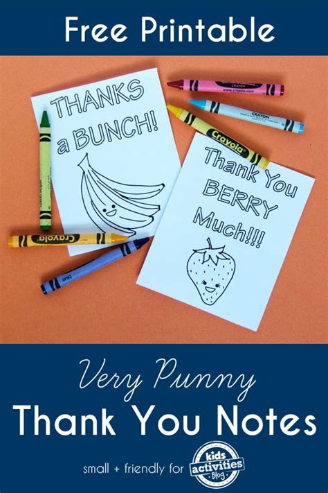 free printable thank you notes coloring for and