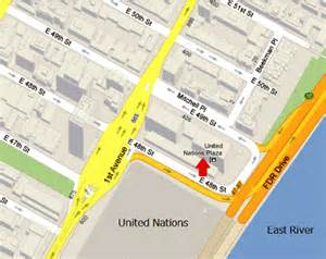 United Nations New York Map by Gallery For Gt United Nations Headquarters Map