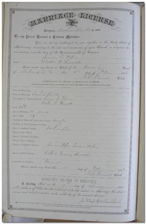 Norfolk Va Marriage Records Elizabeth E Howell