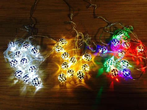 2m led christmas xmas bauble tree party string outdoor