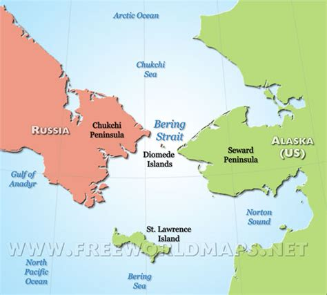 america map bering strait bering strait map shows counties and continents