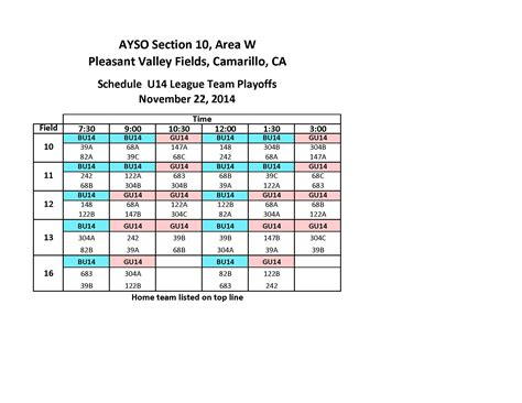 section 10 ayso area w playoffs schedule