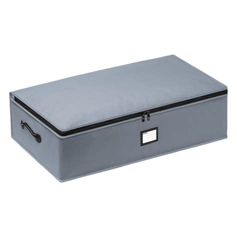 under bed storage container grey underbed storage bag the container store