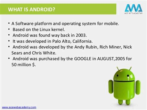 When Android Was Developed by Basics Of Android App Development Career Growth By Ace