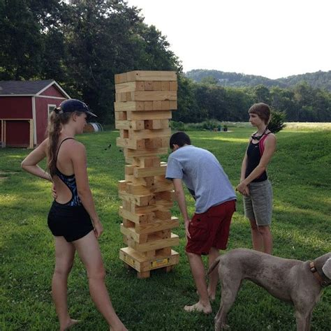 backyard jenga game what giant jenga awesome 5 amazing outdoor party
