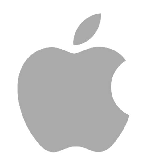 apple logo png apple grey logo png transparent pngpix