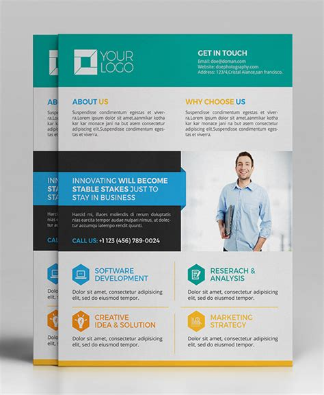 template for flyers 25 professional corporate flyer templates design