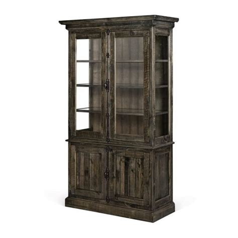 wood china cabinet magnussen bellamy wood china cabinet in pine d2491 01t