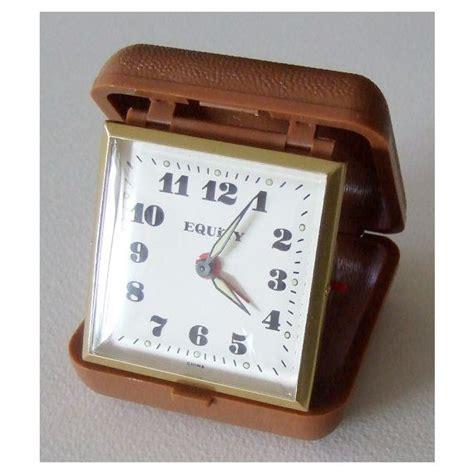fold up clock wind up clock travel alarm clock works travel alarm clock and etsy