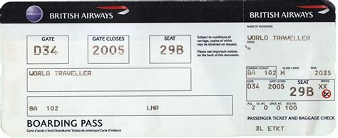 Boarding Card Template by 27 Best Airline Boarding Pass Ticket Template Exles