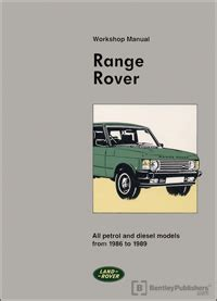 best car repair manuals 1989 land rover range rover electronic throttle control range rover range rover repair manual 1986 1989 bentley publishers repair manuals and