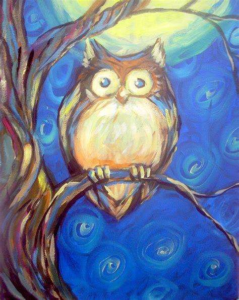 paint nite owl image gallery owl painting