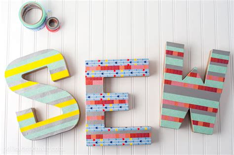 washi tape diy diy washi tape letter craft create sewing room decor