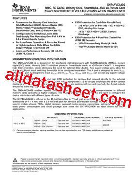 Dggr Co sn74avca406dggr 데이터시트 pdf instruments