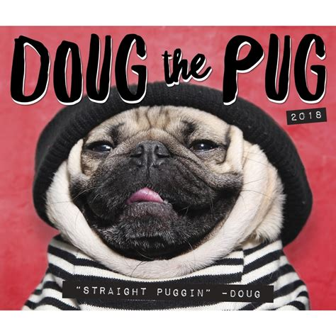 pug desk calendar willow creek press doug the pug 2018 desk calendar calendar buy