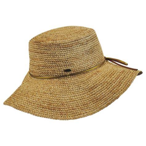 Straw Planter Hat by Scala Organic Raffia Straw Floppy Planter Hat Sun Hats