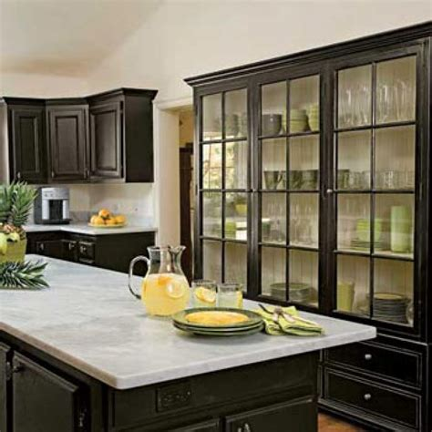 pictures of kitchens with black cabinets painted kitchen cabinets black kitchen cabinets look