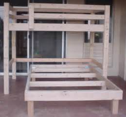 build a bunk bed how to make a bunk bed plans free pdf diy