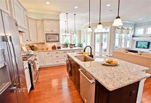 kitchen living space ideas open concept kitchen living room design ideas