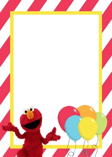 elmo template for invitations printable elmo birthday invitation free printable