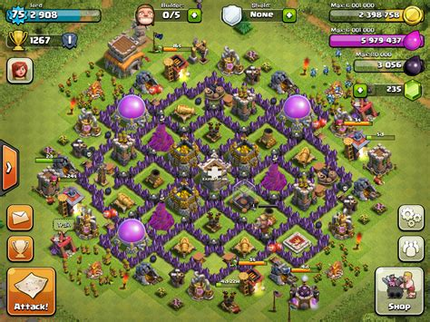 layout of coc clash of clans base designs for town hall 10 town hall 9