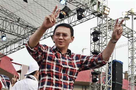 ahok international embattled christian governor wins election in indonesia