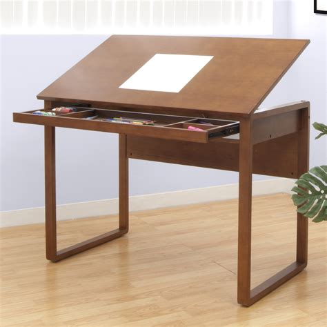 Ponderosa Wooden Drafting Table By Studio Designs Warm Simple Drafting Table