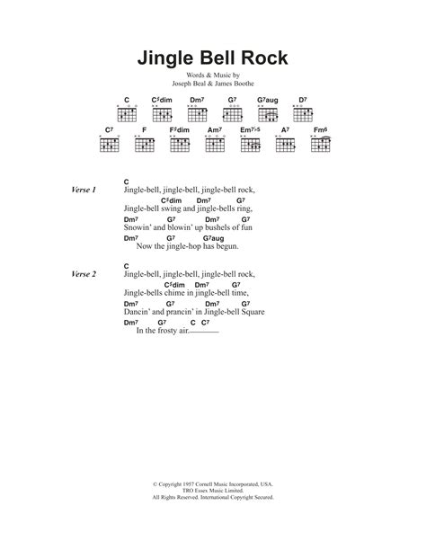 printable lyrics jingle bell rock jingle bell rock sheet music direct