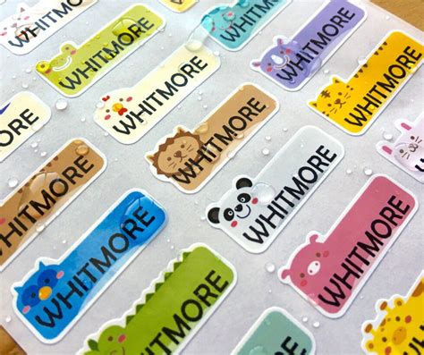 Name Stickers Waterproof