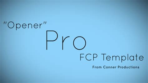 fcp templates cut pro x templates professional titles