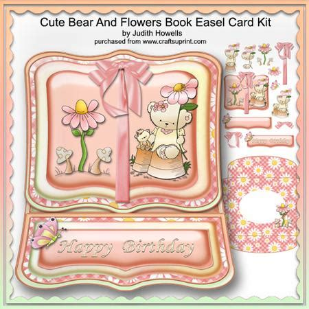 Open Book Easel Card Template by And Flowers Book Easel Card Kit Cup576599 1065