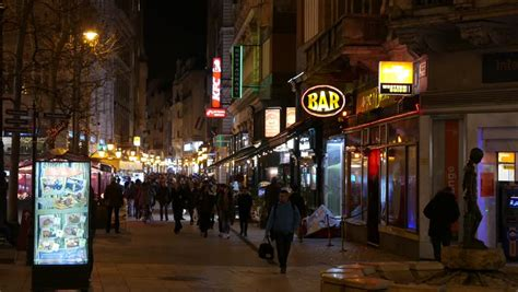 budapest light district amsterdam august 25 2014 crowds of in light