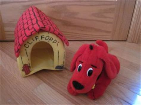clifford dog house clifford the big red dog plush puppy with dog house