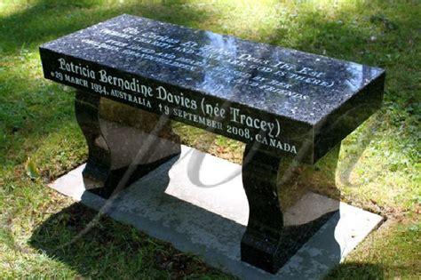 benches for grave sites benches for grave sites pin by jb newall memorials ltd on